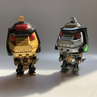 6'' Exclusive Original Funko pop Used Black and Gold Dragonzord, Mighty Morphin Vinyl Action Figure Collectible Model Loose Toy