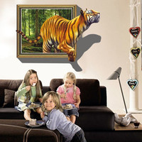 Large 3D Effect Eemovable Wall Sticker Home Decor Decal DIY Vinyl Mural High Quality Popular New