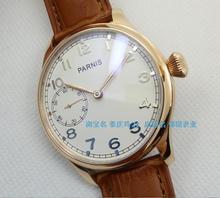 44MM PARNIS sea gull ST3600/6497 Mechanical Hand Wind gooseneck movement plating  rose gold watchcase mechanical men's watch 329