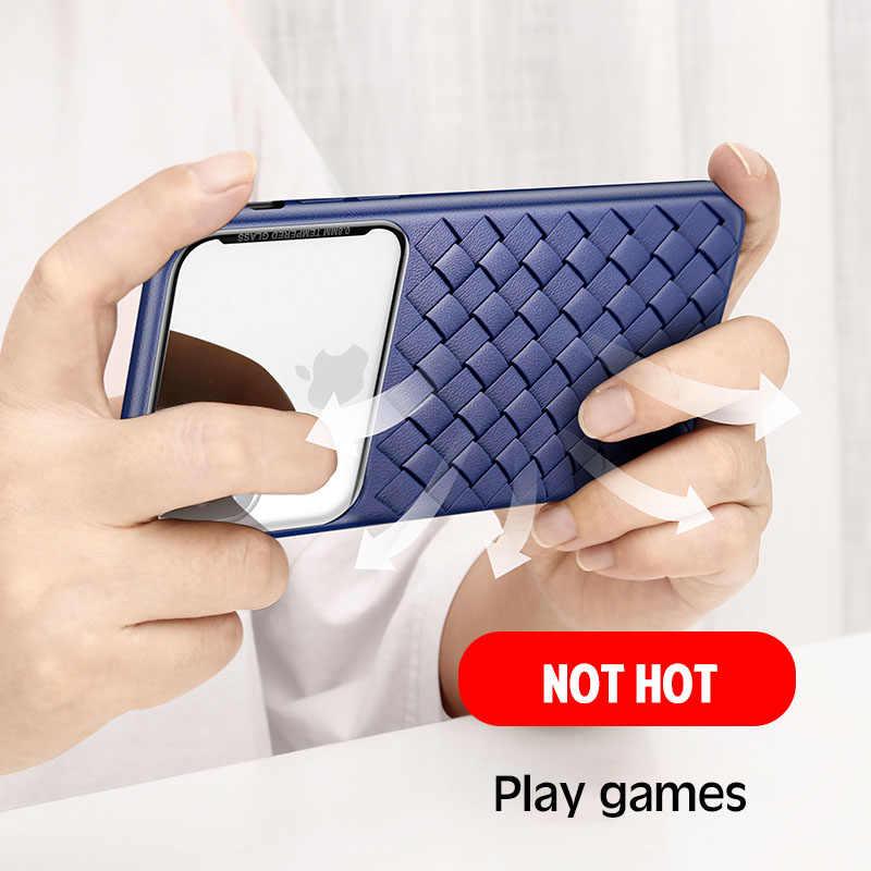 الفاخرة الشبكة واضح الهاتف حالة ل فون 11 برو X XR XS ماكس SE الأزياء لينة واقية غطاء ل فون 7 8 زائد الأعمال قذيفة