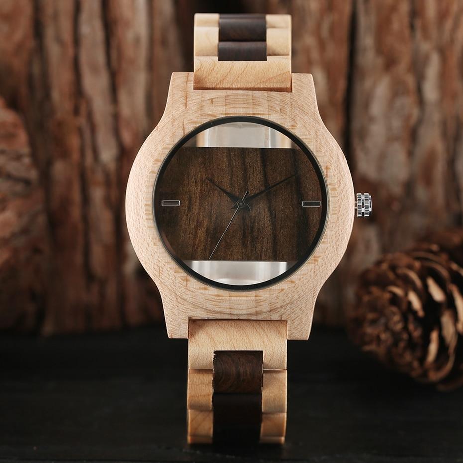 Top Luxury Full Bamboo Wood Quartz Watch Mens Hollow Analog Handmade Bracelet Sports Wristwatch Male Simple reloj de hombre 2017 2018 Gifts (31)