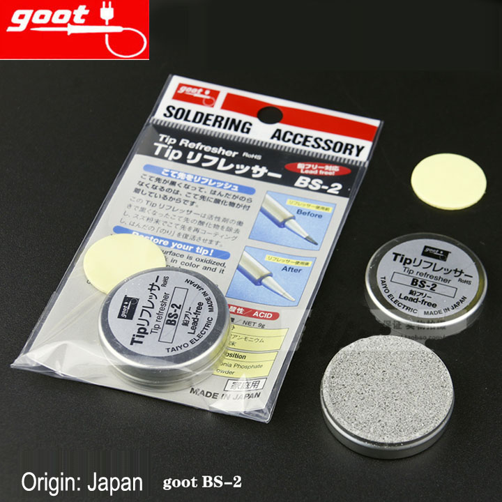 Japan GOOT BS-2 Resurrection Cream Regeneration Abrasive Of Soldering Tip NW 9g RoHS Tip Refresher Clean Solder Iron Head