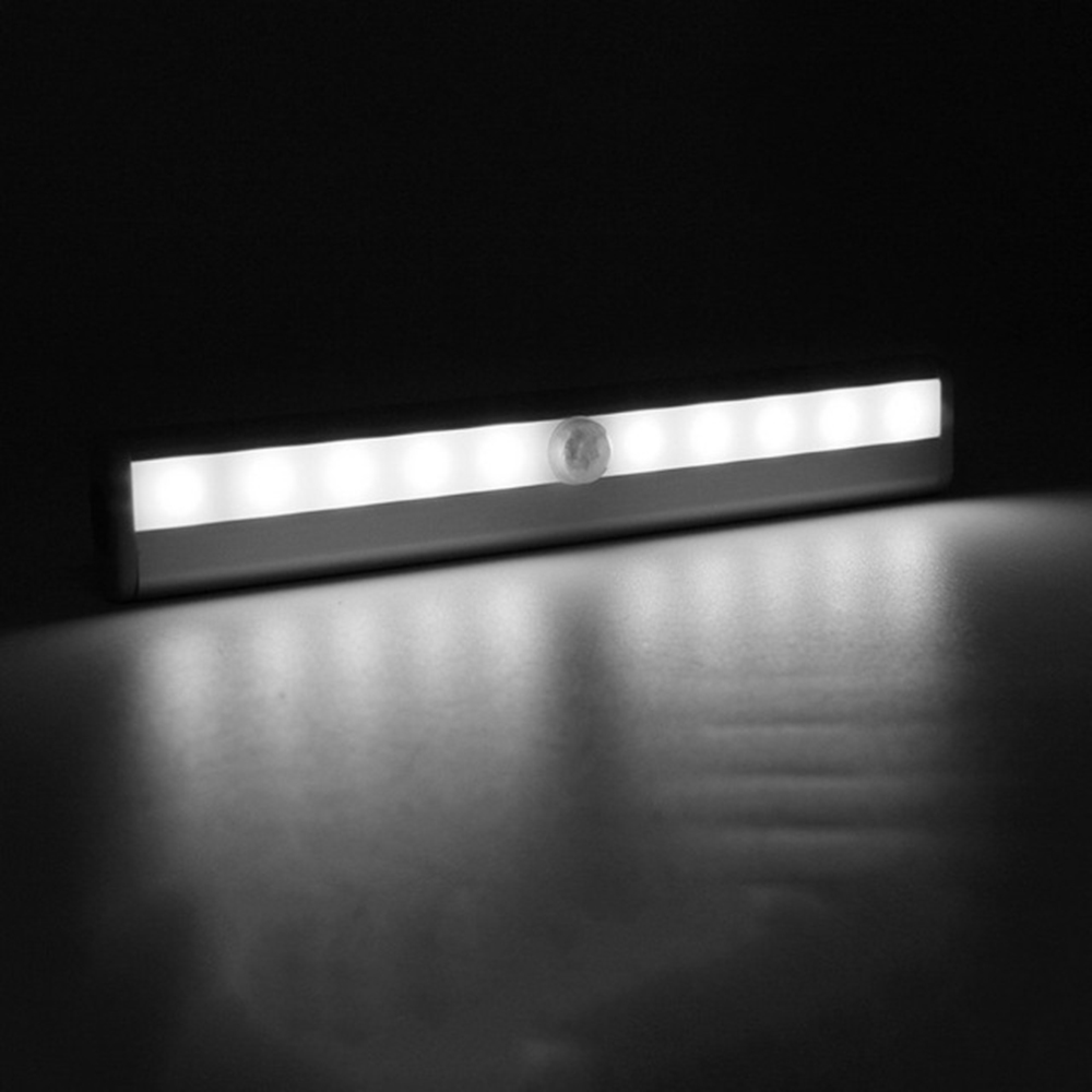closet lighting battery. Portable 10 LED Closet Lights Motion Sensor Night Light Battery Powered Wireless Cabinet IR Infrared Detector Wall Lamp-in From Lighting