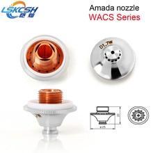 LSKCSH 20pcs/lot high quality Amada fiber laser nozzle double WACS water jet nozzle 1.4-4.0mm agents wanted Amada parts OEM