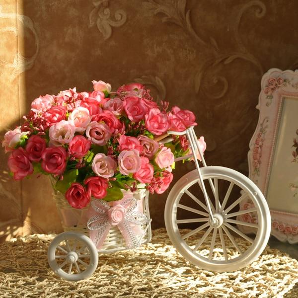 - barrowload alice artificial flower rose set artificial flower big wheels car rustic decoration flower