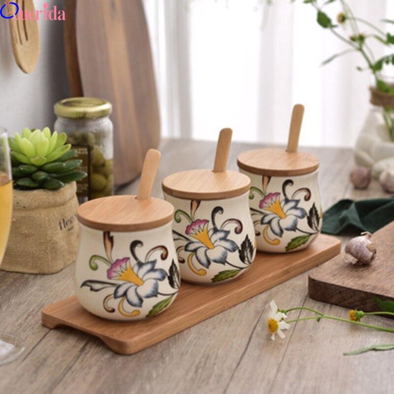 3 pièces/ensemble cuisine épices stockage bouteille Transparent PP sel poivre Cumin boîte à poudre outil épice pot assaisonnement boîte pots pour épices