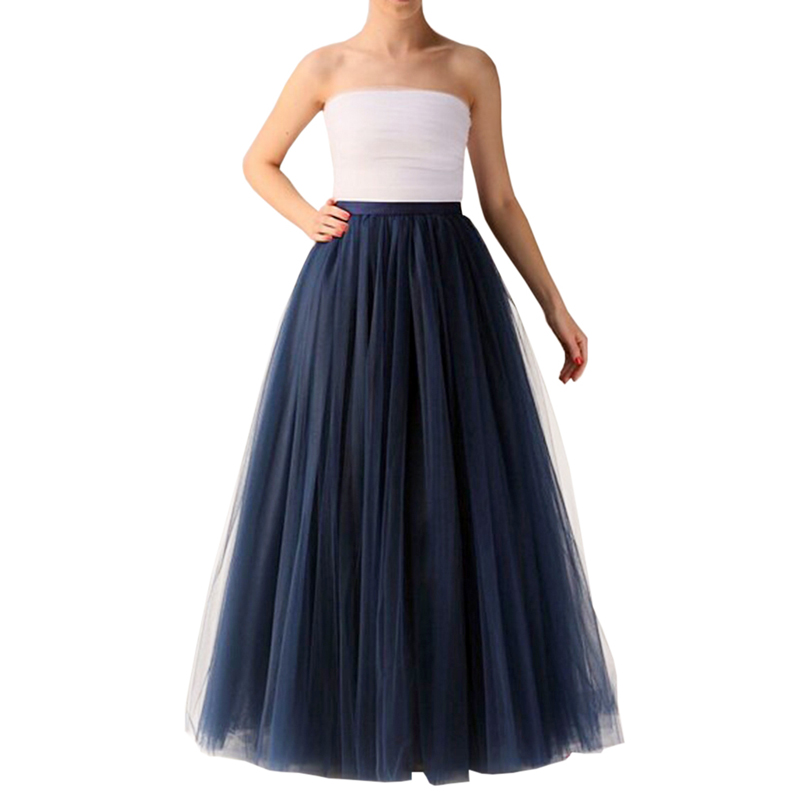d0a92e7cc11 Detail Feedback Questions about Fashion Navy Blue Long Tulle Skirt Plus  Size Zipper Waist Floor Length Maxi Skirts Womens Vintage Puffy Adult Tutu  Skirt on ...