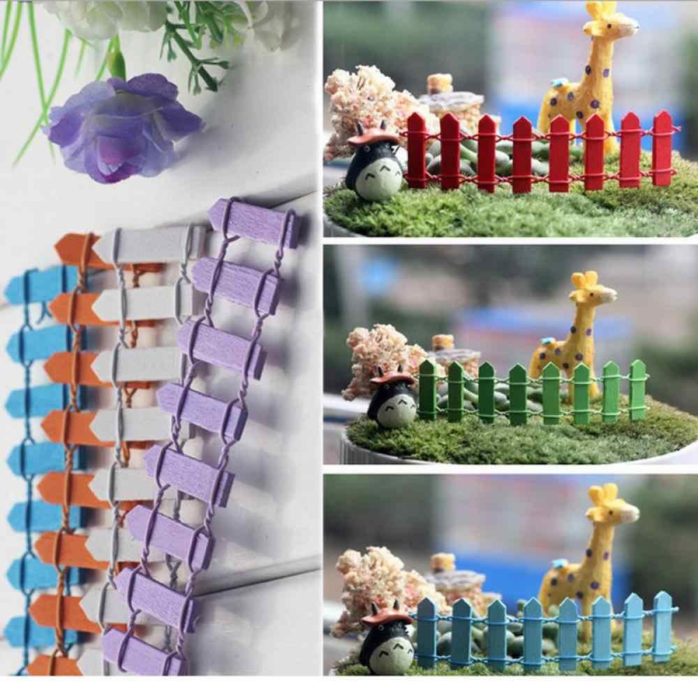 สวยงามไม้รั้วการ์เด้นเครื่องประดับเครื่องประดับพืช Fairy Scenery Decor ที่แตกต่างกันสี
