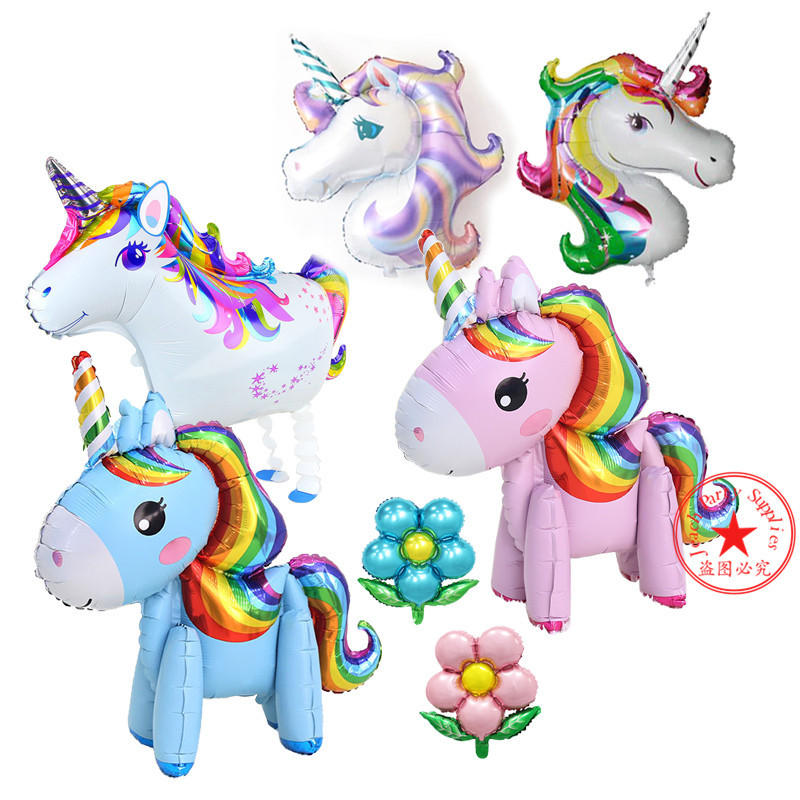 unicorn baby helium balloon gifts foil big birthday party supplies decoration