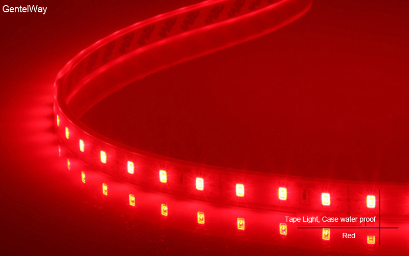 Fllexible Strip  led Light Case water proof-Red