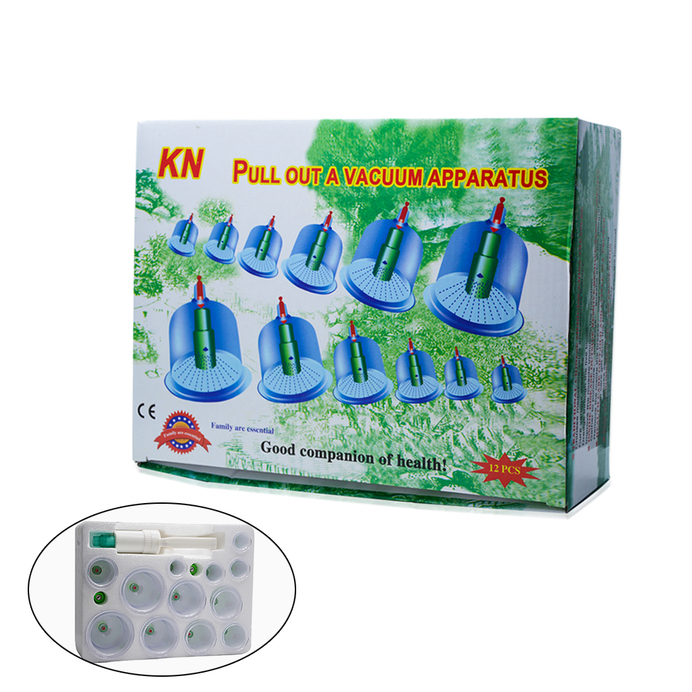 1 Set 12 Can Massager Health Monitors Products Can Opener Vacuum Cupping of Acupuncture Body Suction Healthy Relaxation C772 1 set 6 can massager health monitors products can opener pull vacuum cupping of the tanks cutem extractor acupuncture hot sale