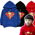 2017 New Autumn Winter Children Hoodies Kids Cartoon T Shirt Baby Girls Boy Superman Sweatshirt Long Sleeve Coat Free Shipping