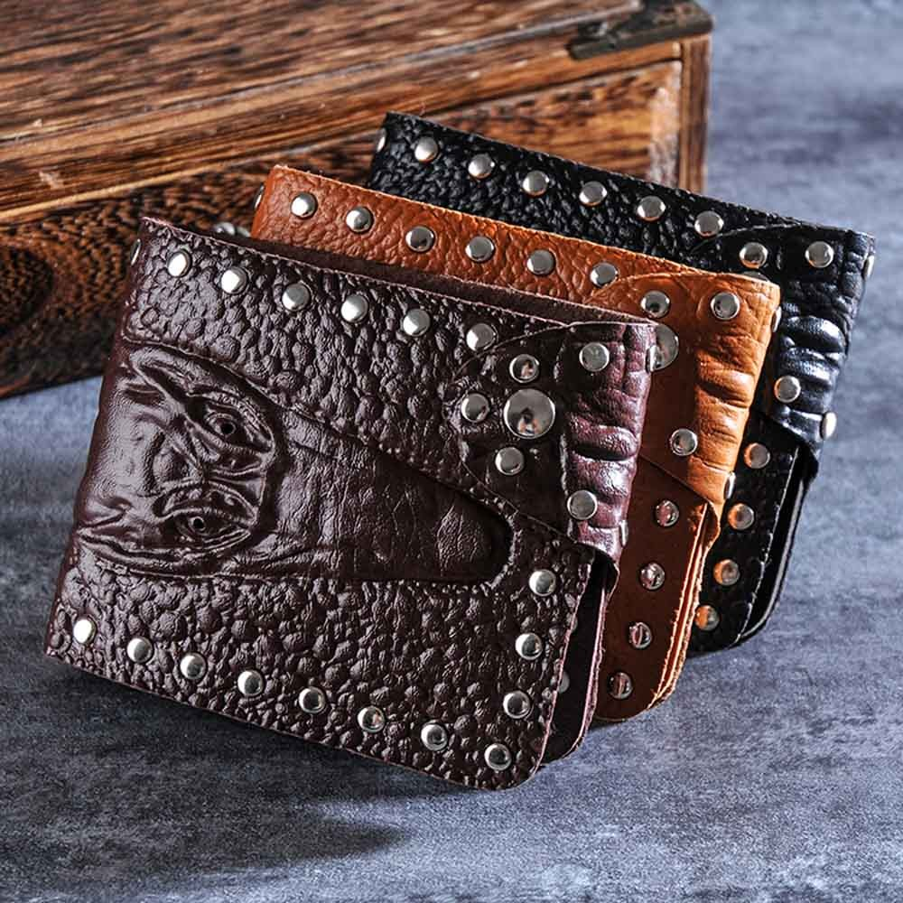 Ulrica New Arrival High Quality Men Crocodile Pattern Business Short Wallet Coin Purse Card Holders
