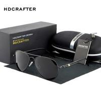 HDCRAFTER Polarized Pilot Sunglasses Men Brand Designer Sports Sun Glasses Driving Glasses Mirror Goggle Eyewear Gafas