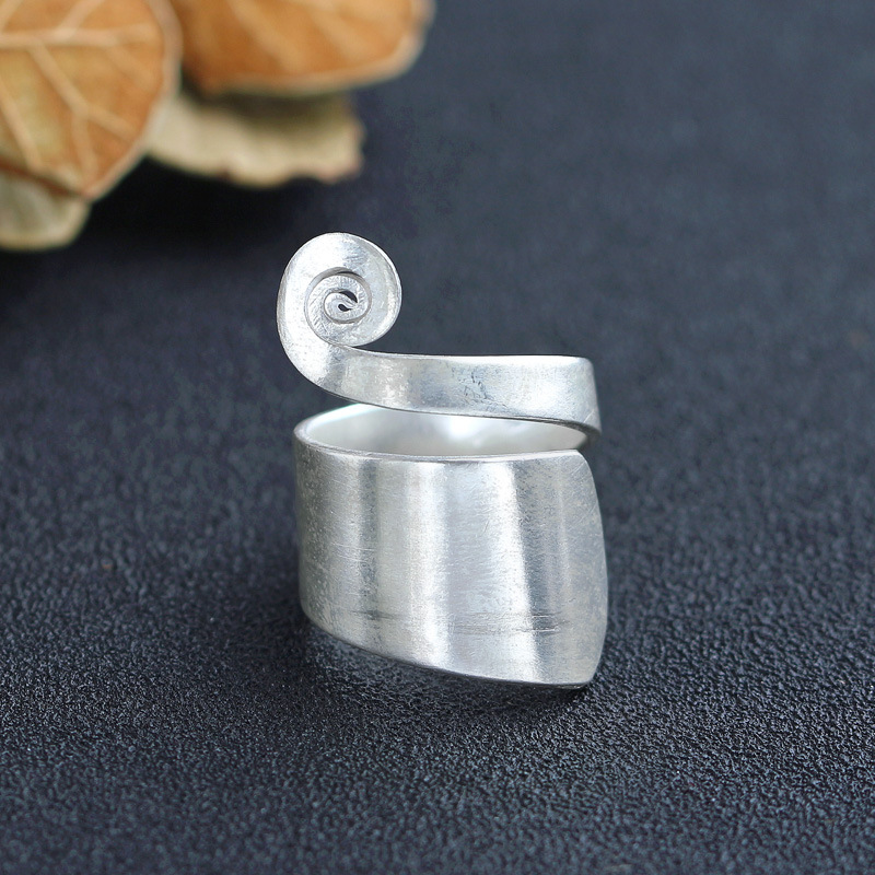 925 silver wire drawing ring Chiang mai, Thailand national wind features handmade silver ornaments, silver ring girl 2018 new rushed men anel feminino chiang mai thailand handmade 925 sterling contracted temperament ring ms male food rings