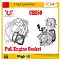 Zongshen CB250 250cc refrigerado por agua del motor junta junta del cilindro atv quad dirt PIT bike accesorios envío gratis
