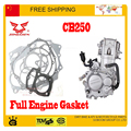 zongshen 250cc CB250 water cooled engine gasket muffler gasket cylinder atv quad dirt PIT bike accessories free shipping