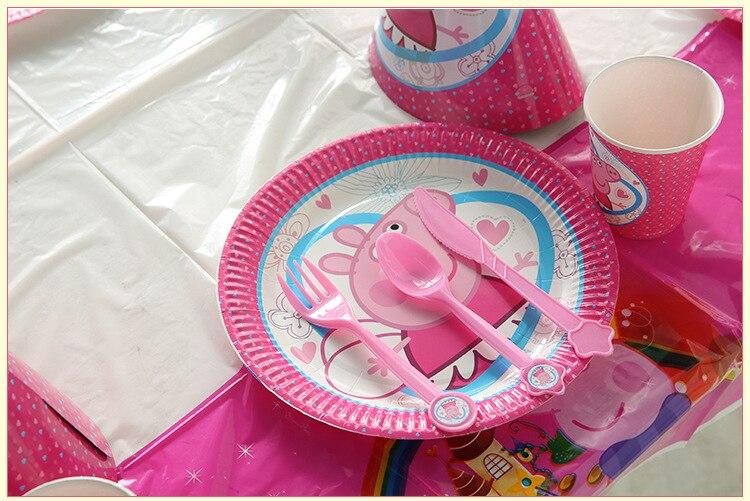 9 pçs peppa pig conjuntos de festa