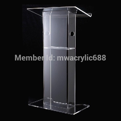 Free Shiping High Quality Cheap Clear Acrylic Lectern Decoration