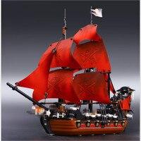 16009 1151pcs Queen Anne S Revenge Pirates Of The Caribbean Building Blocks Set Bricks Compatible 4195