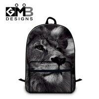 Dispalang 남성 사자 3D 인쇄 노트북 배낭 표범 팬더 호랑이 머리 어깨 배낭 소년 학교
