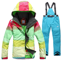 2016 Winter Ski Jackets Men/Woman Waterproof Snowboard Clothes Couple Set Sport Snow Jacket Hiking ski suit+skiing warm pants