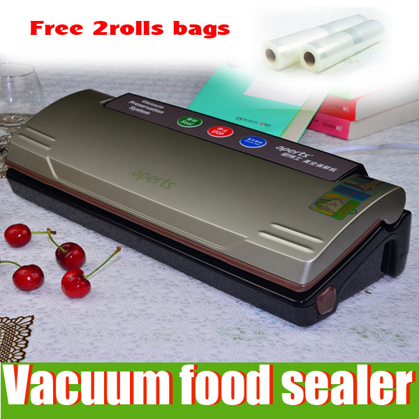 Aperts#2110GB Household Food Vacuum Sealer One Key Full Automatic (Free Gift :2 Rolls Vacuum bags)