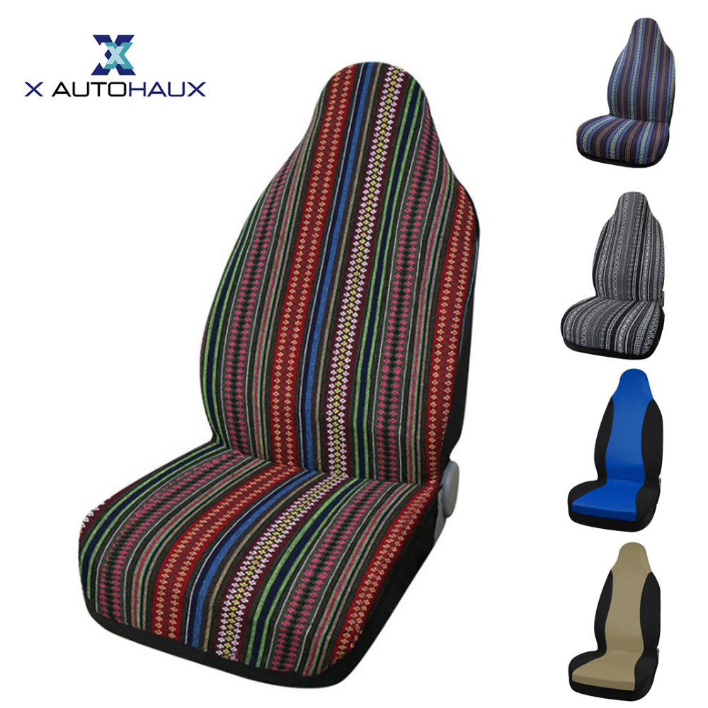 X Autohaux couverture de siège Auto   Ensemble complet ou avant unique de housses de Protection de siège dauto multicolores pour intérieur, hiver et froid