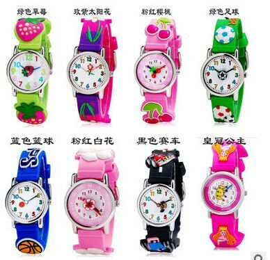 купить waterproof 3D Cartoon football Basketball Sun flower car Design Analog Wrist Watch Children clock / kid Quartz Wrist Watches онлайн