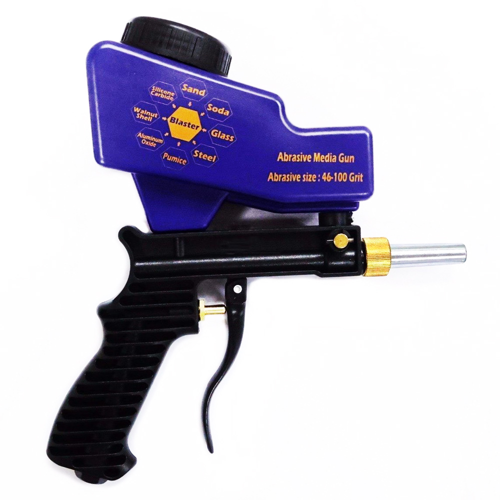 Anti rust Sand Blaster Spray Gun Adjustable Sand Blaster Gun Portable Sand Blaster