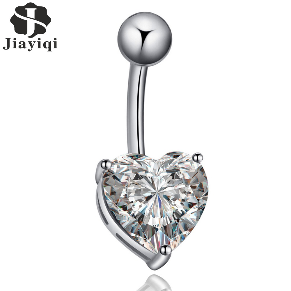 Jewelry amp watches gt fashion jewelry gt body jewelry gt body piercing - 2017 New Hot Sale Piercing Cubic Zircon Crystal Heart Shape Body Jewelry Fashion Belly Button Rings
