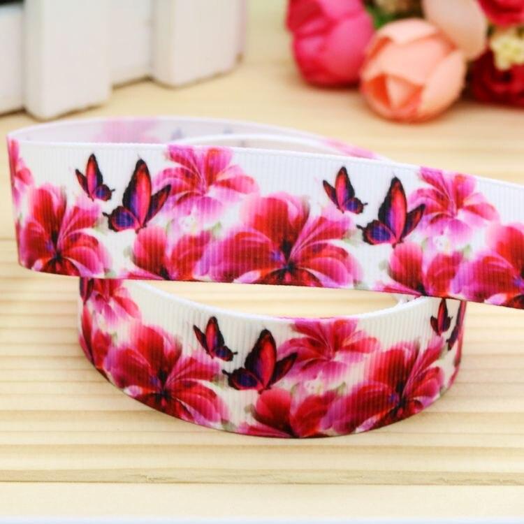 ᗛ7/8 \'\'envío libre flores impreso grosgrain cinta decoración del ...
