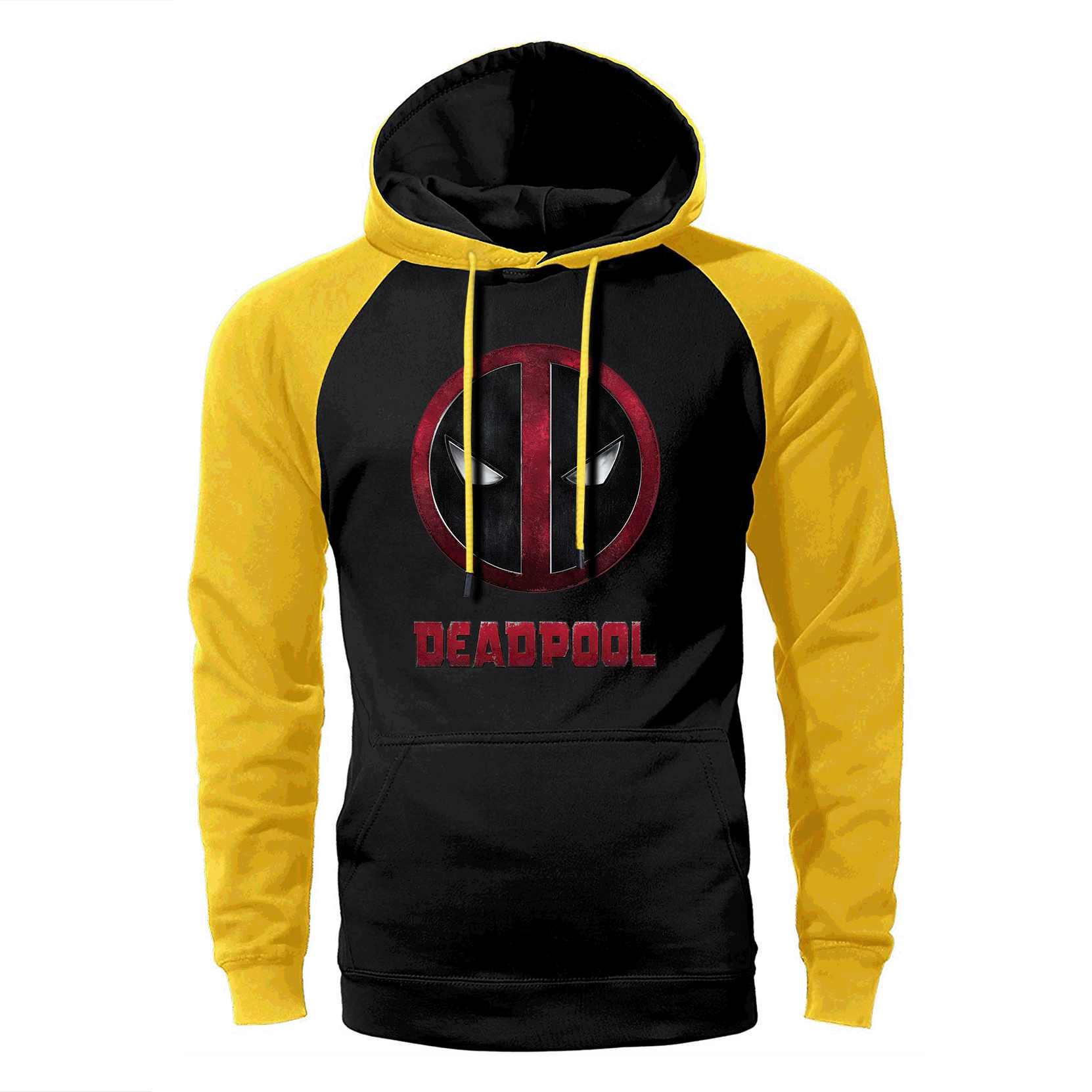 Deadpool Raglan Hoodie Männer Super Hero Hoodies Lustige Hipster Mit Kapuze Sweatshirt 2019 Frühling Herbst Dead Pool Hip Hop Streetwear