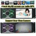 Новый 4.1 ''дюймовый 16:9 TFT экран 12 В автомобиля audioMP3 MP4 MP5 Плеер 1080 P один размер din в тире Car Audio SD/MMC поддержка камеры заднего вида