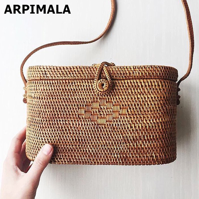 Arpimala Bali Island Rattan Bag Small Handmade Straw Instagram Por Beach For Women Crossbody