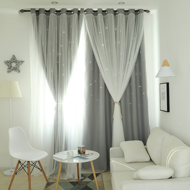fantasy star sky double curtain for living dining room bedroom starsfantasy star sky double curtain for living dining room bedroom stars girls room princess wind bedroom