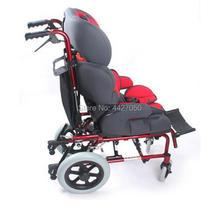 2019 new style lightweight Backrest angle adjustable foldable wheelchair children