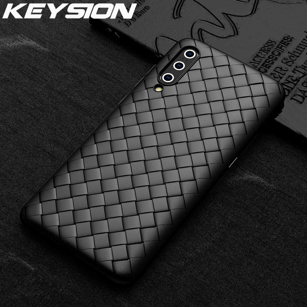 KEYSION Grid Weaving Case For Xiaomi Mi 9T Pro 9 SE A2 F1 Soft TPU Silicone Radiating Phone Back Cover for Redmi K20 Pro Note 7S