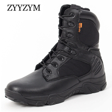 ZYYZYM Men Desert Boots Tactical Military Boots Mens High-Top Outdoors Shoes Army Boot Zapatos Ankle Lace-up Combat Boots Men все цены