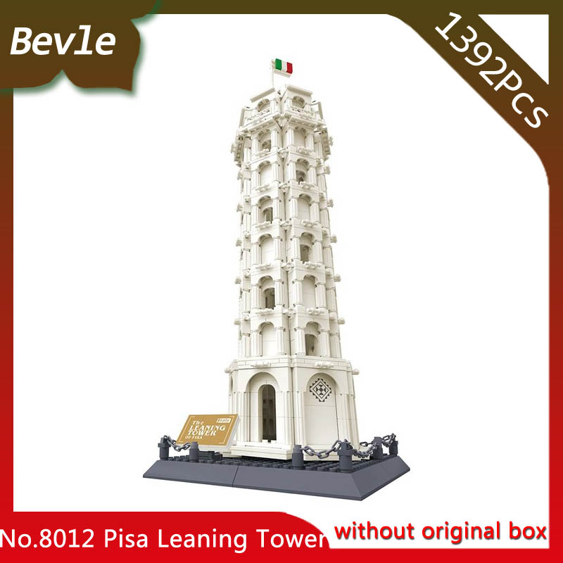 Bevle Store LEPIN 1392 296Pcs Street View Series Leaning Tower of Pisa Building Blocks set Bricks Children For Toys Wange Gift compatible lepin city mini street view building blocks chinatown satin silk store with saleman figures toys for children gift