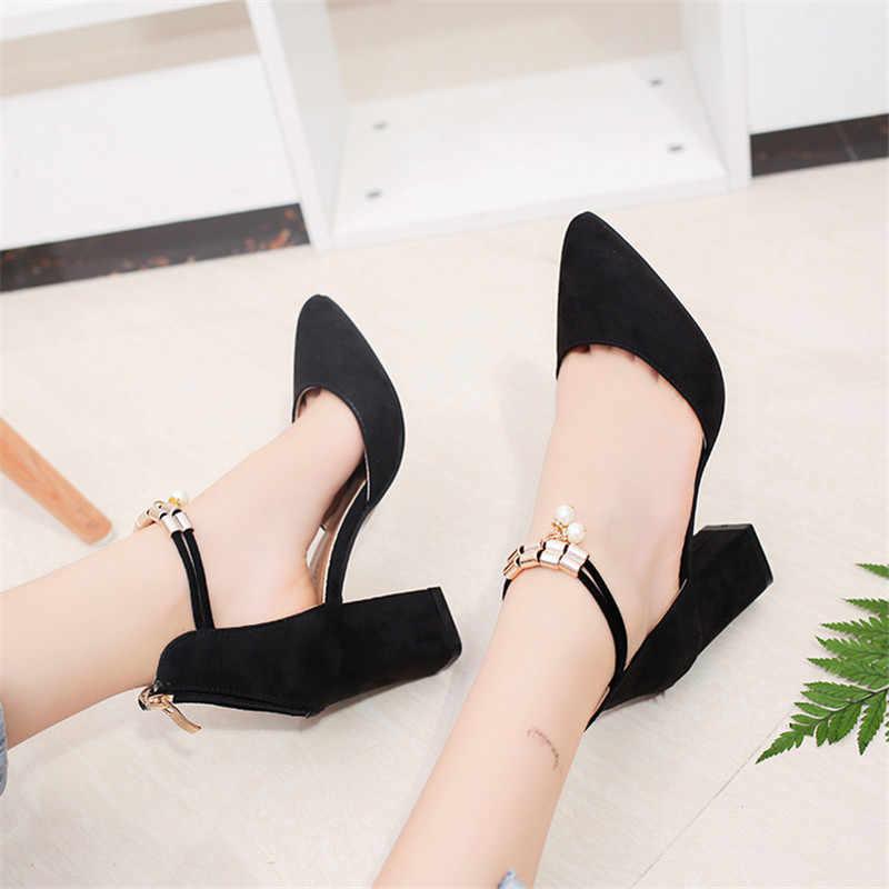 Nuove Donne di Pompe di Estate di Modo Sexy Da Sposa Punta a punta Del Partito Scarpe Col Tacco Alto Donna Sandali di perle Zapatos Mujer no1