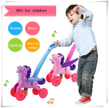 Child stroller electric bubble machine car automatic acoustooptical eco-friendly bubble water gun gift for kids outdoor toys
