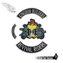 KINGDOM BIL DERS MATHEW 6:33 REVIVAL RIDERS Hot Sell Embroidered Patch Full Back Large Pattern For Rocker Club Biker MC