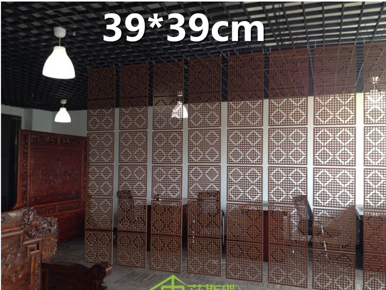 6pcslot Wood Screen Divider Hanging Screen partition bedroom wall