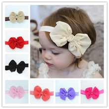 Lovely Girls Lace Flower with Pearl Elastic Hairband