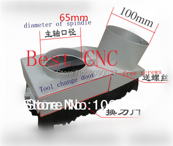Free Shipping 65mm Vacuum Cleaner Dust Cover for CNC Router самокат 21st scooter skl l 021 1