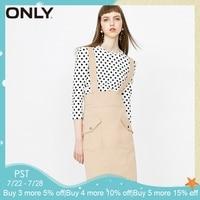 ONLY 2019 Spring Summer New Women Dress Shoulder Straps Hip Wrap Two piece Dress|118107649