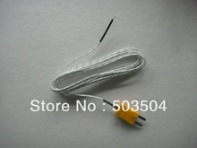 2M thermocouple for digital thermometer, Fiberglass Coated with Miniature thermocouple connector , fast delivery
