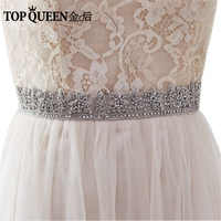 TOPQUEEN AS11 India Silk Bride Evening Party Gown Dresses Accessories Wedding Sashes Belt Waistband Bridal Belts