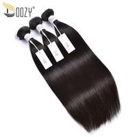 Doozy Brazilian Virgin Hair Straight 3 Pieces Natural Color 8 30 Double Weft Unprocessed Straight Virgin Human Hair Bundles